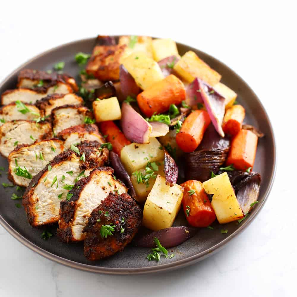 Air Fryer Spiced Chicken And Vegetables Zested Lemon