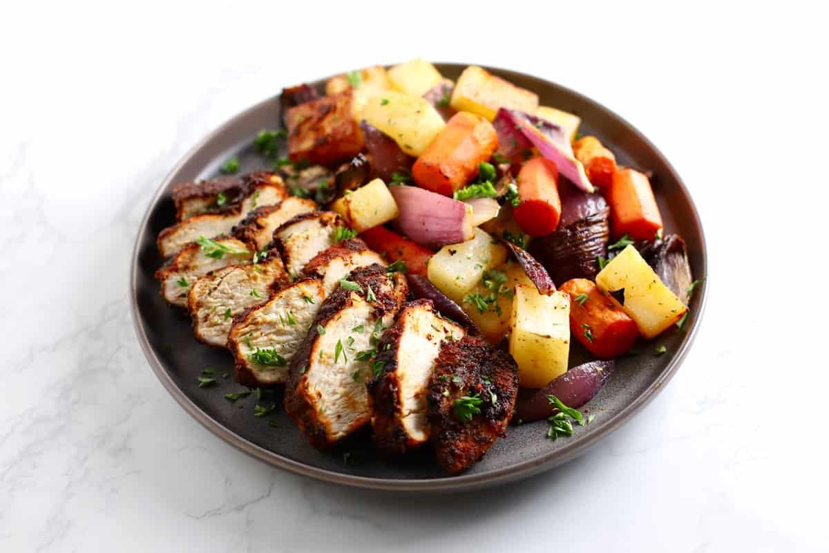 Air Fryer Spiced Chicken And Vegetables