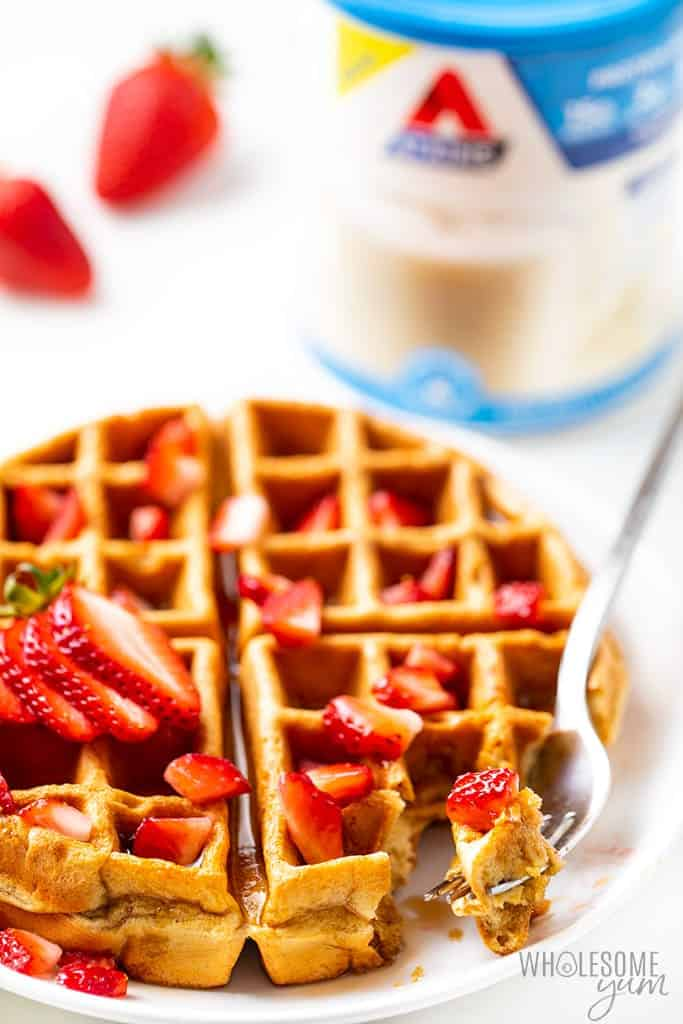Easy Vanilla Low Carb Protein Waffles