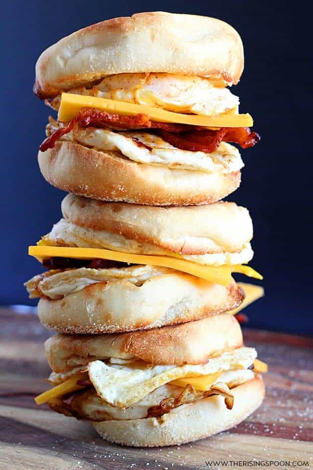 Make-Ahead English Muffin Breakfast Sandwiches