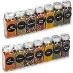 Row of spice jars.