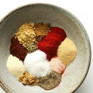 Steak seasoning ingredients in a bowl.