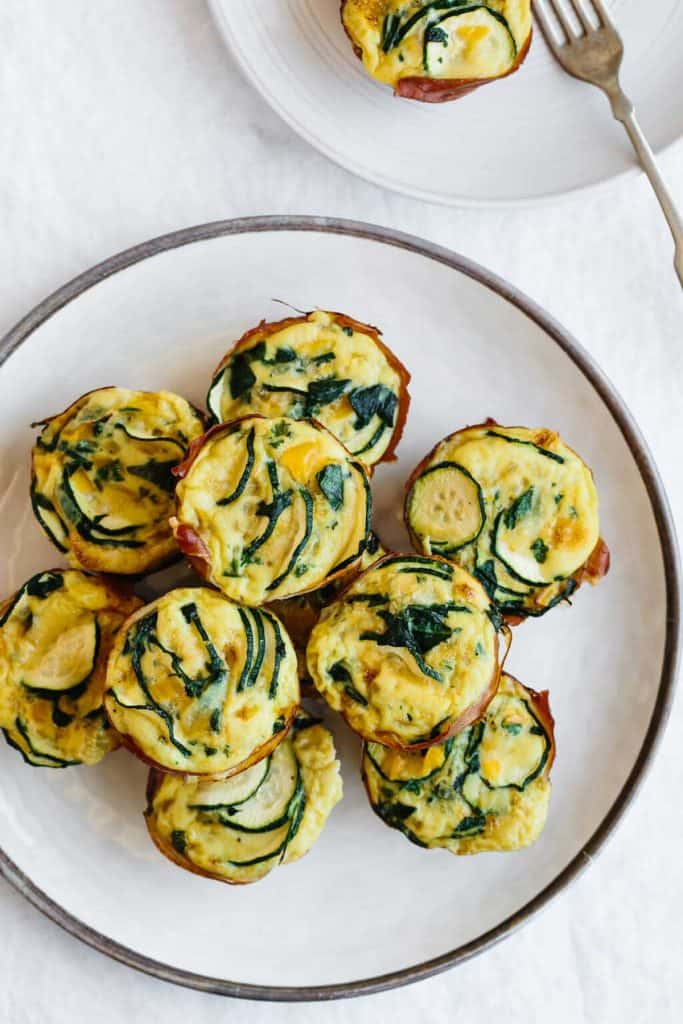 Zucchini and Prosciutto Egg Muffins