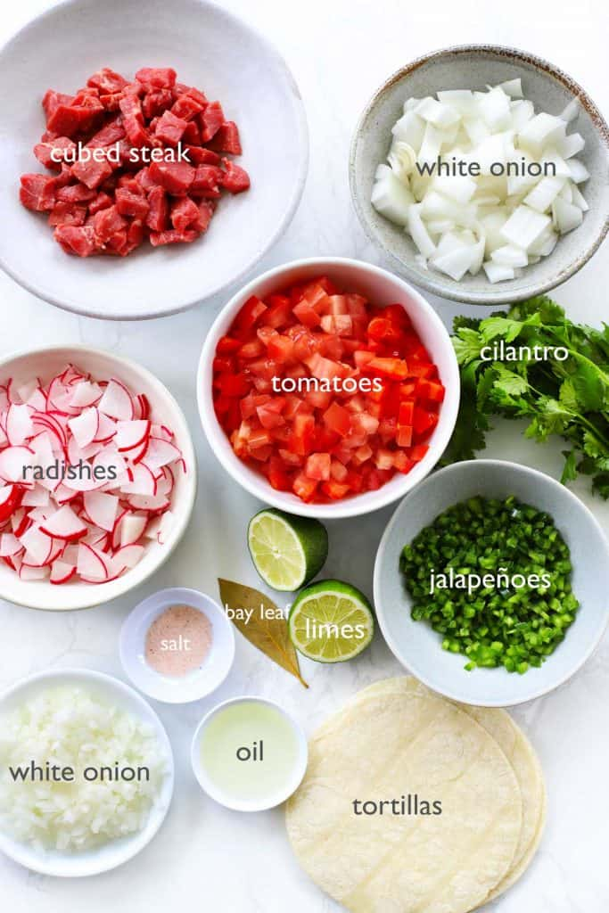 Street taco ingredients