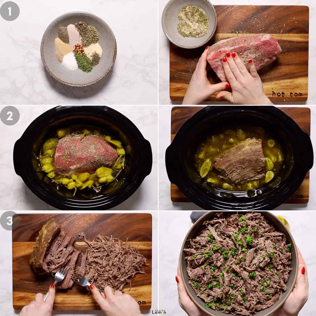 Step by step instructions to make Italian beef.