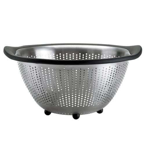 Colander isolated on white.