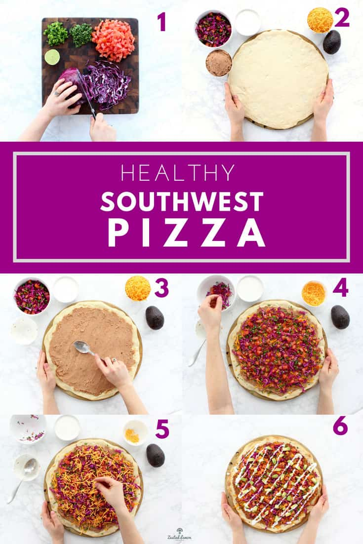 Instructions to make southwest pizza recipe.